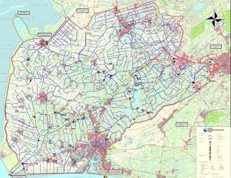 Emden Karte.I Entwasserungsverband Emden